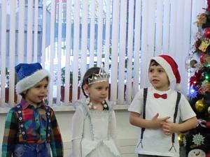 Снеговик, Снегурочка и Дед Мороз